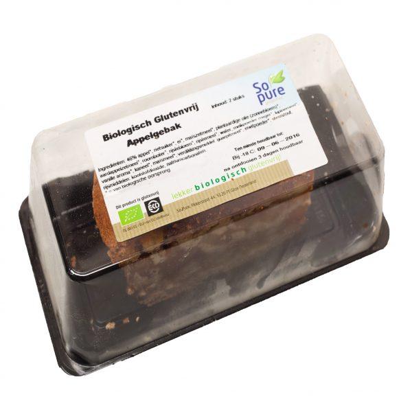 Biologisch glutenvrij appelgebak (per 2)